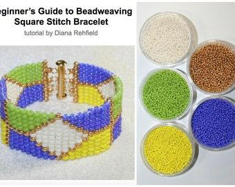 Square Stitch beaded bracelet kit (pattern part of Square Stitch tutorial)