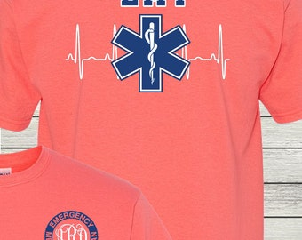 Monogrammed EMT Paramedic Nurse Student Life Shirt Customized Personalized Emergency Medical Technician