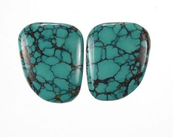 Turquoise Cabochon Matched Set Chinese (Stabilized) Gem Stone (CHCS7)  22 x 18 mm (approx)