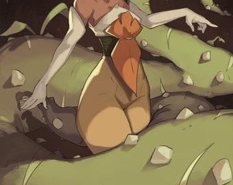 Wakfu Amalia Original Anime Art Print