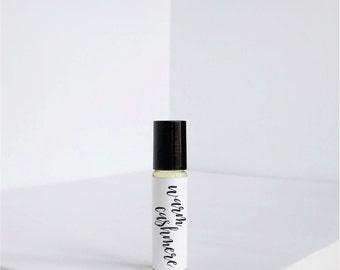 Warm Cashmere - Natural Perfume Oil - Vegan Perfume- Jojoba Oil - Roll on Perfume - Roller ball perfume - Small Perfume