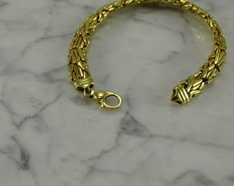 "18K Yellow Gold Bracelet (7 1/2"")"