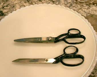 Two Pair of Wiss Scissors//Pinking Shears//Sewing Scissors//Vintage Scissors