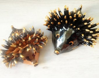 Vintage hedgehog ceramic sculpture by Vittoria Valmaggia