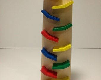 Toy Tower Car Race- Tower Race- Wood Tower Car Race- Race Tower