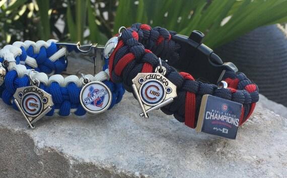 Chicago Cubs Championship Paracord Bracelet