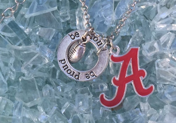 Alabama Crimson Tide Antique Silver Necklace