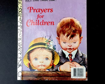 "Adorable Vintage Little Golden Book: ""Prayers for Children"" with Eloise Wilkin Illustrations"