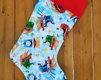 Thomas The Train Quilted Christmas Stocking