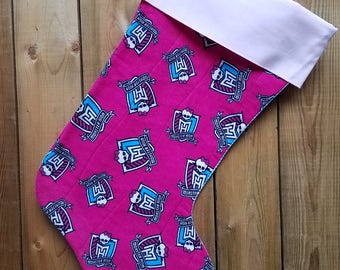 Monster High Quilted Christmas Stocking