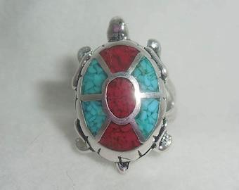 Vintage Southwestern Turtle Ring