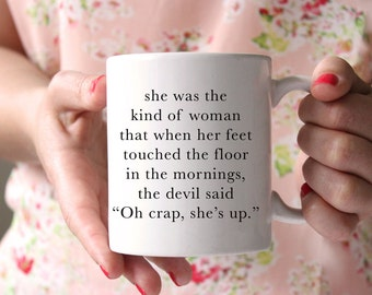 Oh Crap She's Up | Christian Mug | Funny Christian Gift | Funny Christian Mug | Coffee Mug | Jesus Mug | Inspirational Mug
