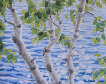 Birch and Sparkling Water