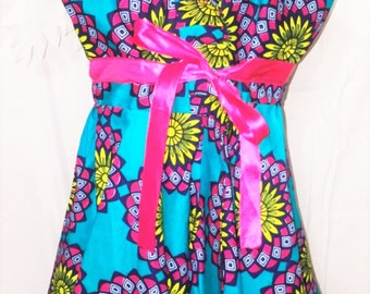 Toddler's Ankara Sleeveless Dress