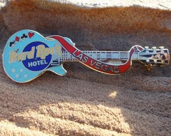 Las Vegas Hard Rock Cafe  guitar  pin brooch  souvenir restaurant