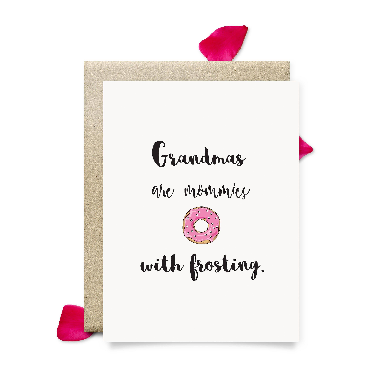 Grandma Birthday Card Cute Mothers Day Gift For Grandma