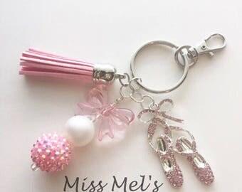 Lovely Dance/Ballet Slippers Keychain/zipper pull