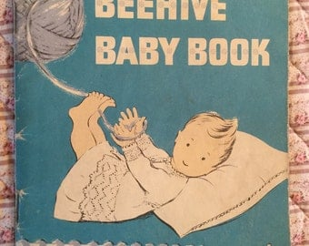 Vintage Beehive Baby Book Knitting Pattern Booklet