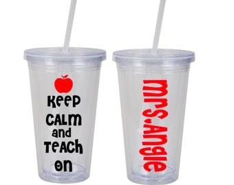 Personalized teacher tumbler, Teacher Gift, Teacher Appreciation week, Teacher week, Teacher Gift, preschool teacher,End of year gift