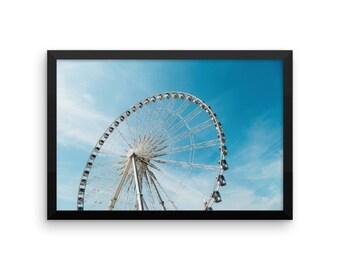 Ferris Wheel   Color Photography   12x18 Digital Print   Printable Art   Carnival   Summer   Outdoor Festival   Modern Home Decor   Wall Art