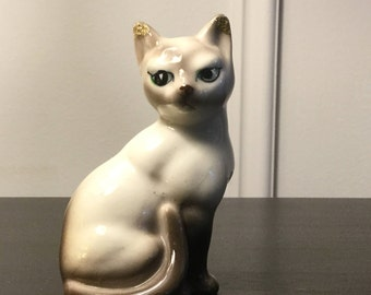 Vintage Cat Figurine Kitten figurine Porcelain cat Porcelain kitten Made in Japan