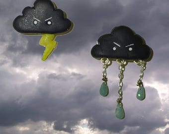Thundercloud Earrings