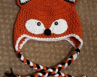 Handmade Crochet Hat - Foxy