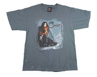 Vintage Cher Concert Tour Tee - Vintage 1998 Do You Believe Music Concert Tour Tee Cher T shirt - L