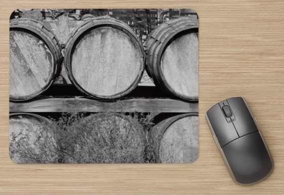 Wine Barrels Mouse Pad - Wine Barrel Mousepads - Computer Mat - Office Accessories - Office Decor - Desk Accessories - Office Gifts