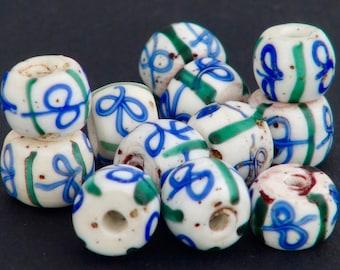 v32-  12Venetian Ribbon beads