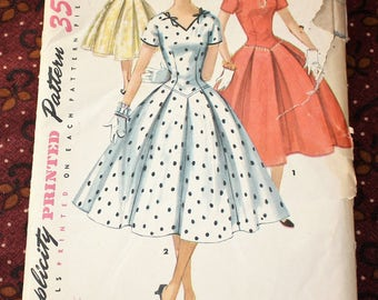 1950's Original Sewing Pattern, Dress, Bust 32""