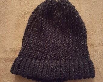 Navy Blue Knit Hat