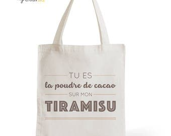 Bag Tote Bag Tiramisu, gift for her, gift for him, greed, pastry