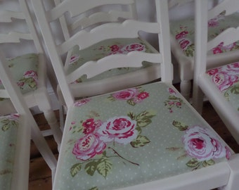 SOLD** Shabby Chic Cream/Floral Dining Chairs, Bedroom/Hallway/Study Chair