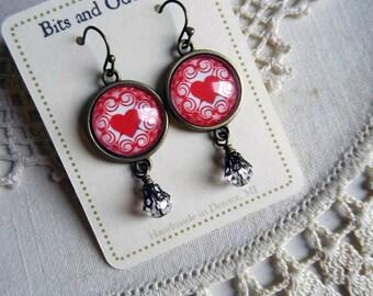 Elegant Valentines Day Heart Earrings