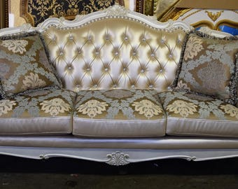 """French Carved Wood Living Room  Sofa  - 82"""""""