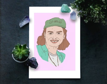 Mac Demarco A4 illustrated print