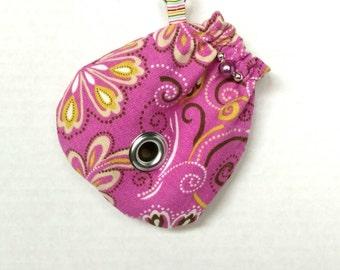 Dog Bag Dispenser - Purple Floral Print - Puparoos