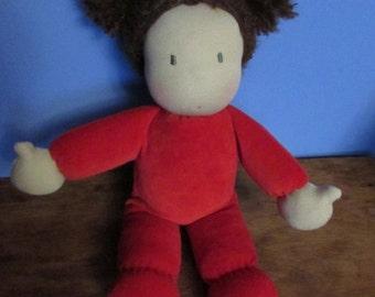 14 inch waldorf baby doll, waldorf cuddle doll, waldorf doll, cloth doll, rag doll, fabric doll, soft doll, eco friendly gift fo kids