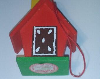 Steinbach German Christmas ornament wooden house gingerbread handpainted handmade
