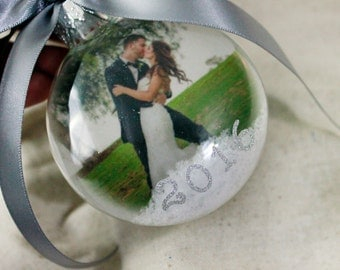 Mr & Mrs First Christmas Ornament First Christmas Bauble Our First Christmas Custom Photo Ornament Personalized Ornament Christmas Ornament