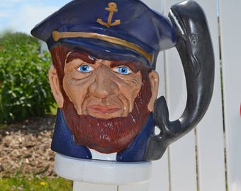 Vintage Ceramic Sea Captain Extra Large Mug/Pitcher/Planter