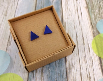 SALE! Geometric Triangle | Lasercut | Sparkle Acrylic Stud Earrings.