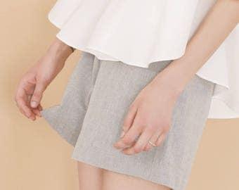 Organic cotton shorts, Grey shorts, summer shorts, sustainable clothing, organic cotton clothing, Spring clothing, Womens clothing,