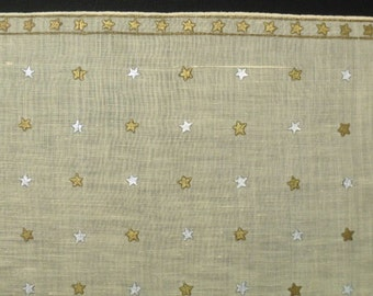 Vintage Cotton Handkerchief Novelty Stars Hanky