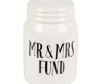 Mr & Mrs Fund Wedding money jar