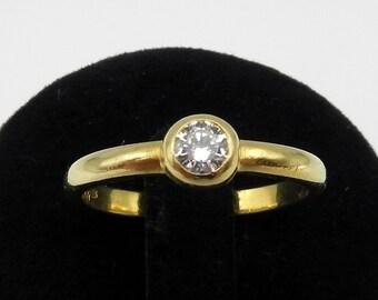 Solitaire Ring Diamonds Brilliant Gold 18k engagement ring Diamond Solitaire 18k gold