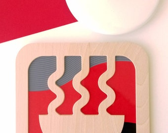 """Table mat """"Noodle way"""" Edo collection"""