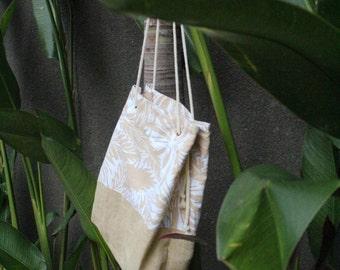 Natural Boho Beach bag with rope handles