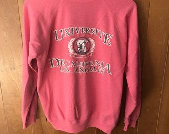 UCLA Vintage Pink Crewneck Sweatshirt
